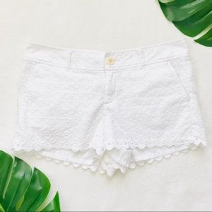 Lilly Pulitzer Walsh shorts in white lace eyelet